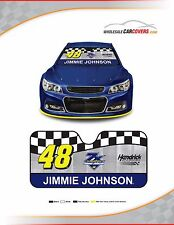 Jimmie Johnson #48 Auto Sunshade Size Small for Cars, Smaller Pick Ups and SUVs