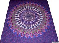 Couvre-lit Inde Tapisserie Décoration murale GOA HIPPIE Rideau Jeté Mandala 25