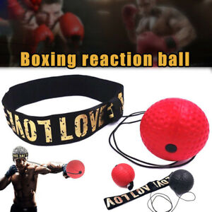 Boxing Fight Ball Punch Exercise Head Band Reflex Speed Training Equipment UK