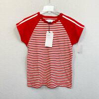 Current Elliott Saturday Raglan Red Striped Tee Womens Size 2 Small New With Tag