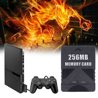 256MB Megabyte Carte Mmoire pour Sony PS2 PlayStation 2 Slim Game Data Console A
