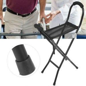 Walking Chair Stick Cane Folding Stools Lightweight With Seat Elderly Portable N