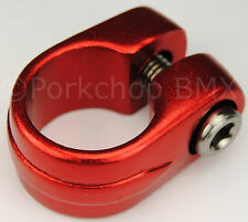 "Old school Suntour style BMX bicycle seat clamp 25.4mm (1"") - RED ANODIZED"