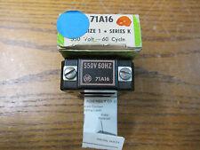 NEW NOS Allen Bradley 71A16 Operating Coil 550 Volts 60 Hertz Size 1