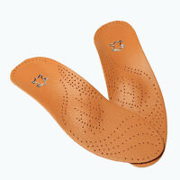 Orthotic Arch Support Shoe Insoles Pads Pain Relief Men/Women Leather Latex W^