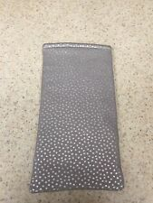 Sunglass / Eyeglass Soft Fabric Case - Soft Gray w/ Silver Tiny Dots - Classic