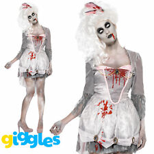 Zombie Georgian Costume Posh Medieval Scary Womens Ladies Fancy Dress Outfit