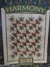 Harmony Quilt Pattern Design Book by Leslie Beck Fiber Mosaics Quilting WE62479