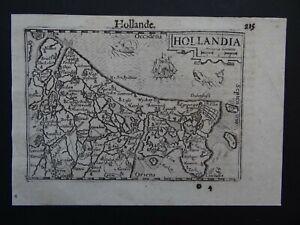 1609 LANGENES atlas map  HOLLAND - HOLLANDIA - Hollande - Netherlands