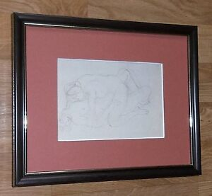 Rodin framed wall art - 8''x10'', Rodin - Sapphic Couple, Rodin nude art cards
