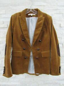 Veronica Beard Cliff Corduroy Double Breasted Cutaway Dickey Jacket Blazer 8