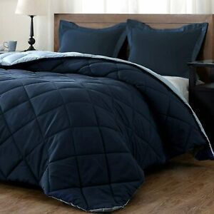 Ultra Soft 1800 Count Solid Light Weight Reversible Microfiber Comforter Set