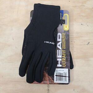 HEAD Mens Ultrafit Sensatec LARGE L Touchscreen Lightweight Running Gloves BLACK