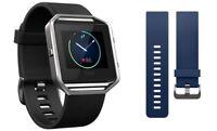 Fitbit Blaze Smart Fitness Watch Bundle (Small) w/ extra Classic Small Blue Band