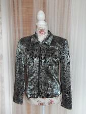 JOSEPH RIBKOFF Trends Size UK 10 (38) Ladies Black & Silver Animal Print Jacket