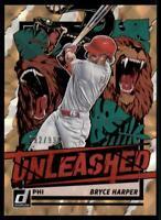 2021 Donruss Baseball Unleashed #22 Bryce Harper - Philadelphia Phillies /999