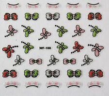 Accessoire ongles, nail art, Stickers autocollants,papillons,noeuds et couronnes