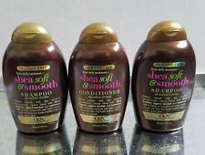 OGX Silicone Free Frizz Defy Moisture Shea Soft & Smooth Shampoo & Conditioner