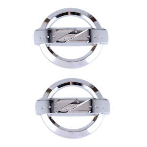 2x Silver Z Logo ABS Emblem Badge Decal Front Rear Hood Fit 350Z 370Z Fairlady