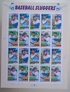 20 Baseball Sluggers 39¢ USPS Postage Stamps New & Unused 2006