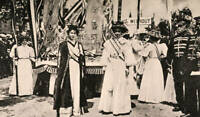 OLD PHOTO Womens Suffragette Rally Led By Christobel Pankhurst And Emmeline