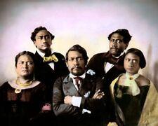 KING KAMEHAMEHA III & ROYAL FAMILY 1853 HAWAII 8x10 HAND COLOR TINTED PHOTOGRAPH