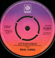 """THE REAL THING let's go disco/plastic man 7N 46078 uk pye 1978 7"""" WS EX/"""