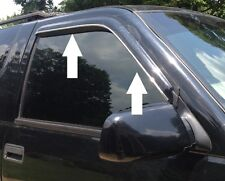 CHROME WINDOW VISOR TRIM MOLDING ACCESSORY - FITS ANY 4 DOOR MODELS  W/ VISORS