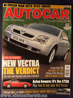 AUTOCAR Magazine 13th February 2002 Vauxhall Vectra