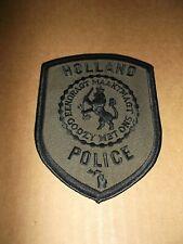 Vintage Original Holland Michigan Police Uniform Unworn Shoulder Patch~MI~Mich~