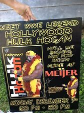 Hulk Hogan Large Autograph 28 x 22 from signing at Meijers WWE WWF