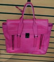 3.1 Phillip Lim Pashli Medium Zip Satchel Bag Fuchsia Pink $895 FREE SHIPPING!