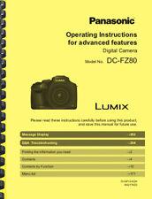 Panasonic Lumix DC-FZ80 Camera Operating Instructions OWNER'S MANUAL