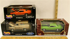 3 Pc 1/43 Hot Wheels Collectibles 1955 Ford Van + Road Legends 1971 Plymouth GTX