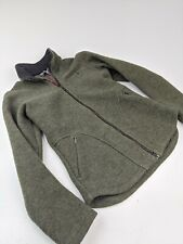 Women's Ibex New Wool Full Zip Jacket Green Sz Xs