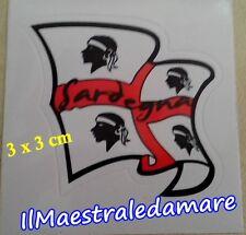 Adesivo Bandiera sventolante 4 mori, Sardegna Souvenir