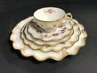 20 pc. - 4 Pl. Settings ROYAL CROWN DERBY - ROYAL ANTOINETTE pattern 1st Quality
