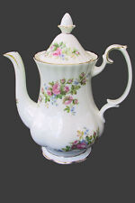 Royal Albert MOSS ROSE Large COFFEE POT EC England 2nd c1990's