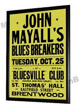 John Mayalls Bluesbreakers Concert Poster Brentwood Essex 1966