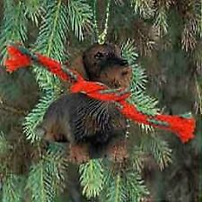 Dachshund Miniature Dog Ornament - Wire Haired
