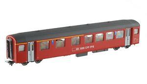 Bemo 3277429 SBB Brünig-bahn AB409 1 2.Kl. Passenger Car Ew III Red Ep4-5 New