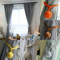 2Pcs Pair of Rope Ball Curtain Tie backs Holdbacks Curtains & Voiles Multicolor