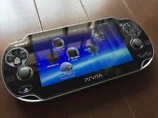 SONY PS Vita PCH-1000 Black Handheld System 9games install