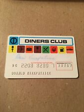 Obsolete Vintage Credit Card Diners Club Expired November 1967