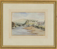 Framed Early 20th Century Watercolour - Ruined Castle