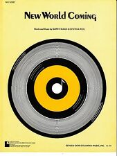 New World Coming Barry Mann Cynthia Weil 1970 Sheet Music