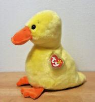 Ty Quackers No Wings Wingless Duck Beanie Buddies Buddy Plush 1998