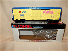 LIONEL 19901 I LOVE VIRGINIA SINGLE DOOR BOXCAR FOR O GAUGE COLLECTION-MINT W BX