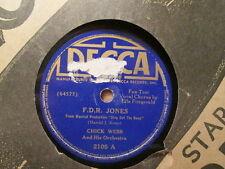 CHICK WEBB w/ ELLA FITZGERALD -  F.D.R. Jones /  I Love Each  DECCA 2105 - 78rpm