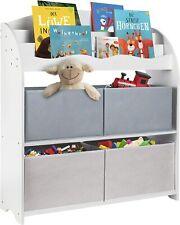 ONVAYA® Kinder Bücherregal Weiß | Aufbewahrung von Büchern und Spielzeug